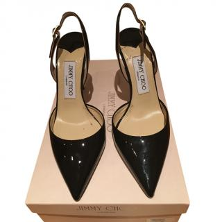 Jimmy Choo patent black shoes