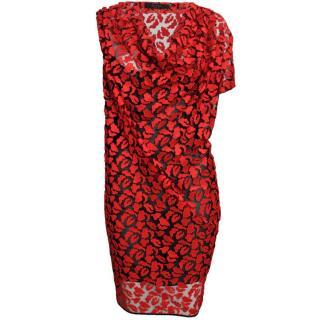 Giles Draped Lace Dress