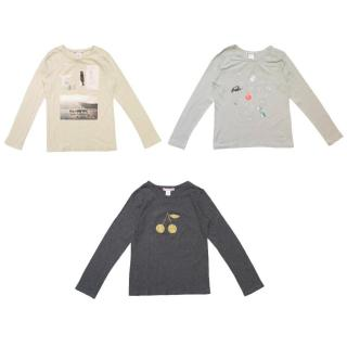 Bonpoint Kids Three Long Sleeved Cotton Tops