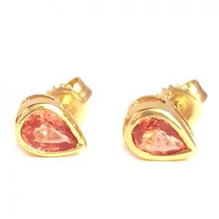 Mandarin Sapphire Earrings 18ct Gold
