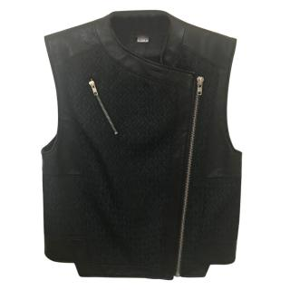Helmut Lang Leather and Cotton Vest