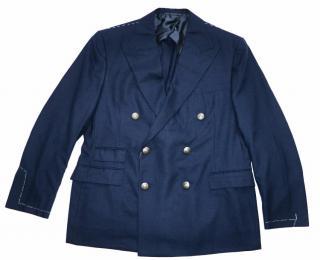 Ralph Lauren Purple Label navy wool double-breasted blazer