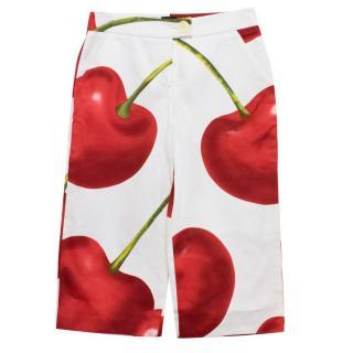 D&G Cherry Printed Long Shorts