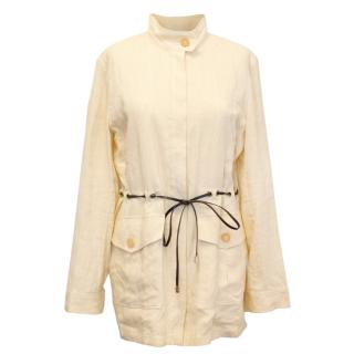 Celine Yellow Linen Jacket