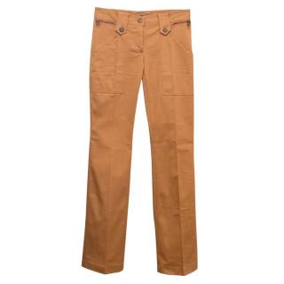 Dolce and Gabbana Tan Flared Trousers