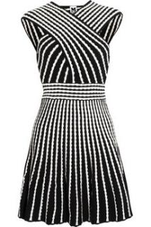 M Missoni Black and White Striped Knitted Dress