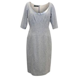 Amanda Wakeley Grey Wool and Cashmere Pencil Dress