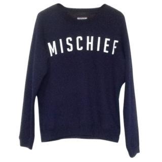 Zoe Karssen Blue 'Mischief' Terry Sweatshirt