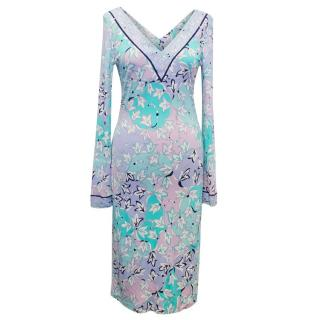 Emilio Pucci Long Sleeved Patterned Dress