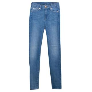 7 For All Mankind Light Blue High Waisted Jeans