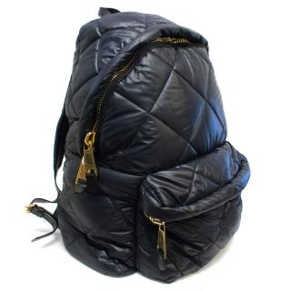 Moschino Black Oversized Quilted Backpack