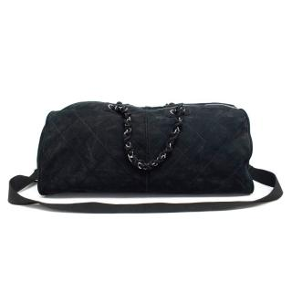 Chanel Black Suede Travel Bag.