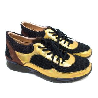 Chanel Men's Multicolour Tweed Trainers