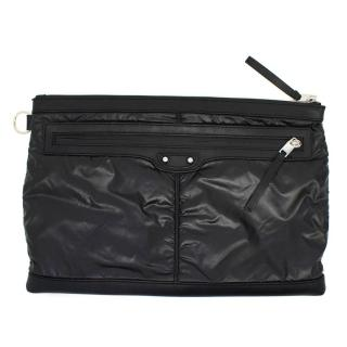 Balenciaga Black Nylon Clip Bag