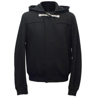 Dior Men's Black Wool Bomber Jacket