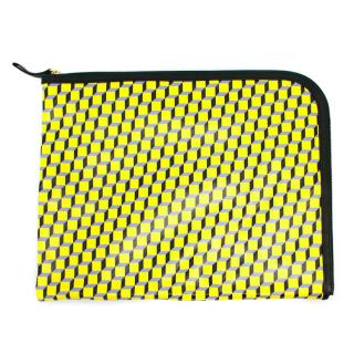 Pierre Hardy Cube-Print Laptop Case