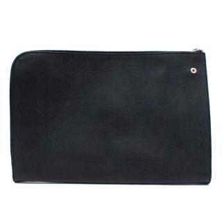 Yves Saint Laurent Black Coated Canvas Wallet