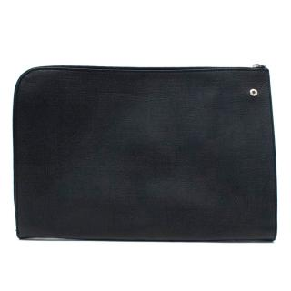 Yves Saint Laurent Black Coated Canvas Wallet