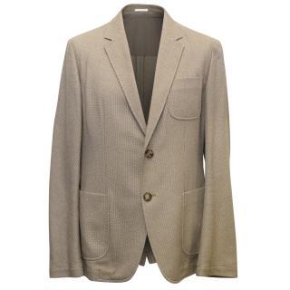 Alexander McQueen Men's Brown Tweed Relaxed Fit Blazer