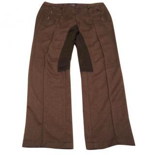 MaxMara brown Jodpur style trousers