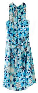 Love Moschino Blue floral Halter neck Silk Dress