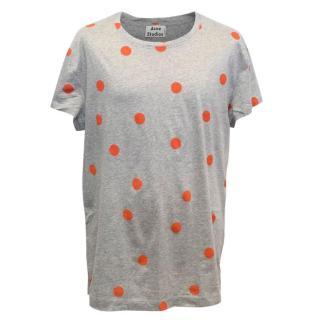 Acne Men's Grey Polka Dot T-Shirt