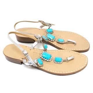 Amadeo Canfora Multicolour Embellished Sandals