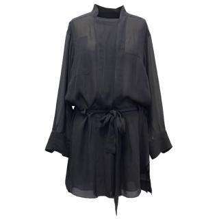 Isabel Marant Grey Silk Shirt Dress
