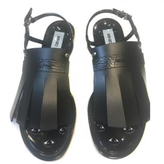 Kenzo Black Jelly Sandals