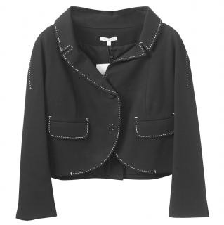 Paule Ka Black & White 3/4 Sleeve Jacket