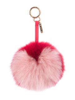 Fendi red and pink heart pompom