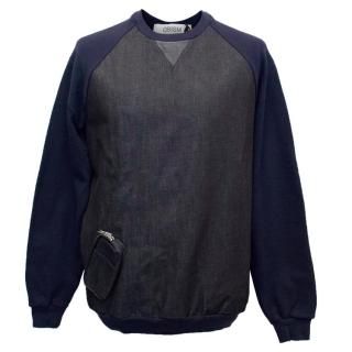QBISM Dark Denim and Jersey Sweatshirt