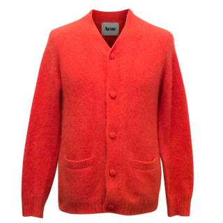 Acne Men's Coral Mohair Cardigan