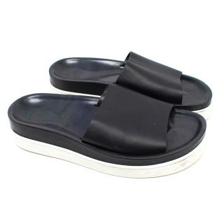 Christian Louboutin Men's Black Leather Sliders