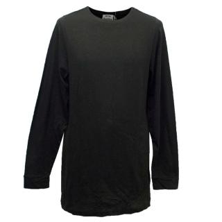 Acne Men's Black Long Sleeved Top