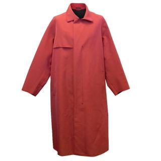 Lanvin Men's Red Trench Overcoat