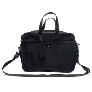 Prada Men's Black Nylon Briefcase