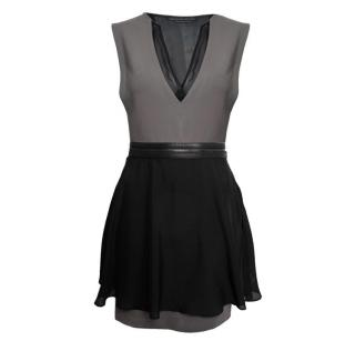 Mackage mini dress with silk organza panels