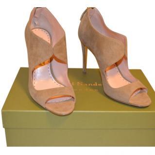 Rupert Sanderson Beige Moyra Suede Shoes/Booties