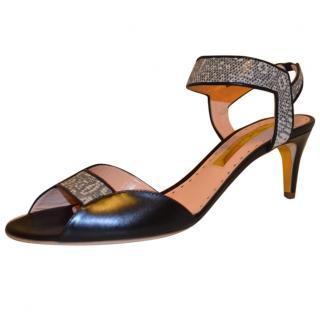Rupert Sanderson Lizard Leather Sandals