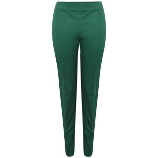 Mantu Straight-Leg Cotton Trousers In Green