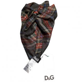 D&G Tartan neck/head scarf