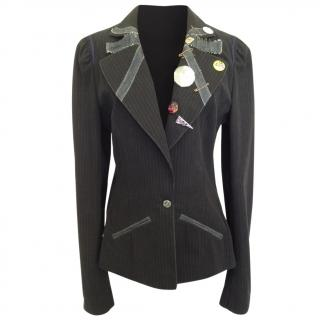 Just Cavalli black striped blazer