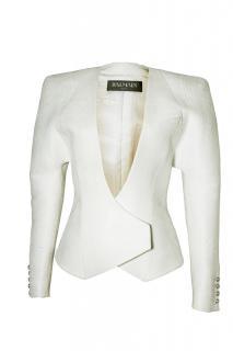 Balmain white evening jacket