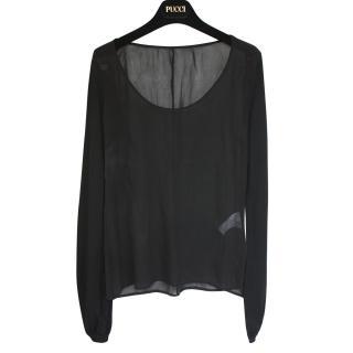 Emilio Pucci silk/wool top It 40 worn twice
