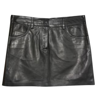 Alexander McQueen leather (glove) mini-skirt It 38