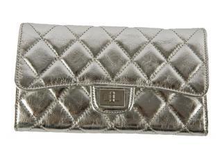 Chanel silver wallet