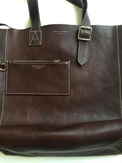 ASPINAL OF LONDON 'A' Leather Tote Bag in 'Smooth Chocolate Brown'