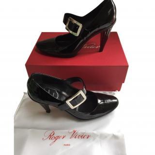 Roger Vivier Black Patent Mary Janes