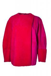Fendi runway pink/red mink/shearling  jacket